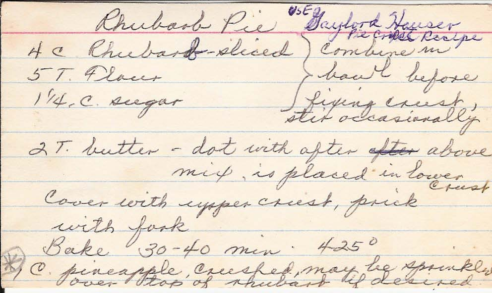The handwritten recipe card by Mary Kachelmyer (typed below).
